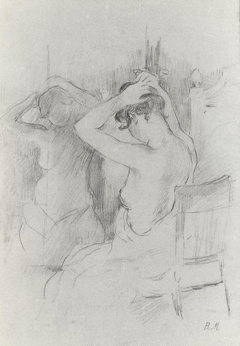 Akt a tükör előtt, Berthe Morisot