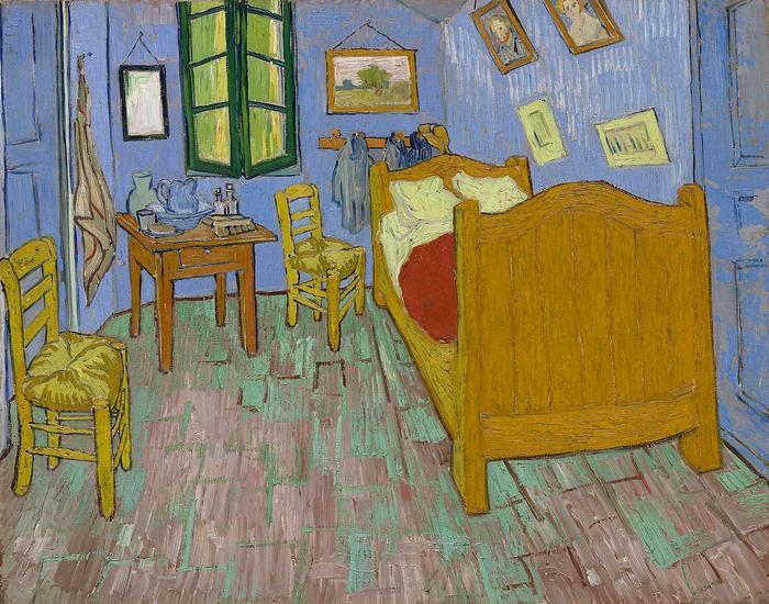 Van Gogh hálószobája Arles-ban - verzió 3. - 2. színváltozat, Vincent Van Gogh