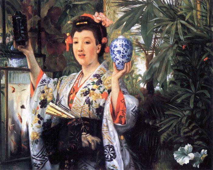Fiatal japán nő, James Tissot