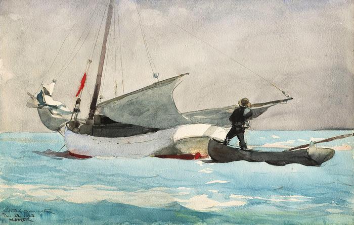 Vitorláshajó rakodása, Winslow Holmer
