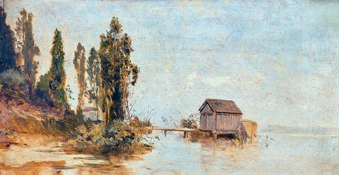 Fürdőház a Balatonon (színverzió 2.), Mészöly Géza