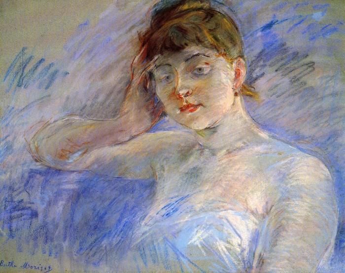 Fiatal nő fehérben, Berthe Morisot