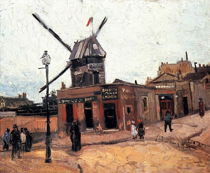 A Galette szélmalom, Vincent Van Gogh
