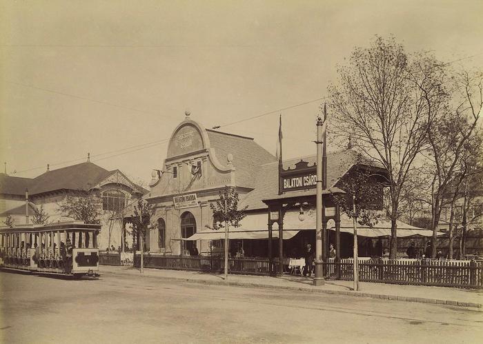 Millenniumi kiállítás, Balatoni csárda épület (1896), FORTEPAN