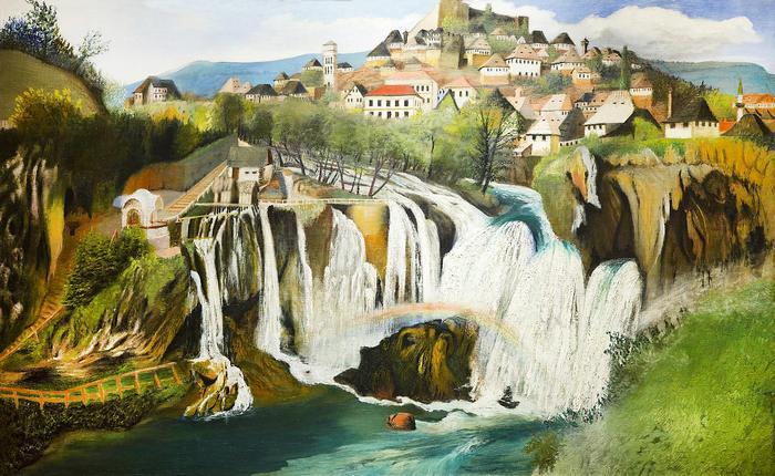A Jajcei vízesés (1903), Csontváry Kosztka Tivadar