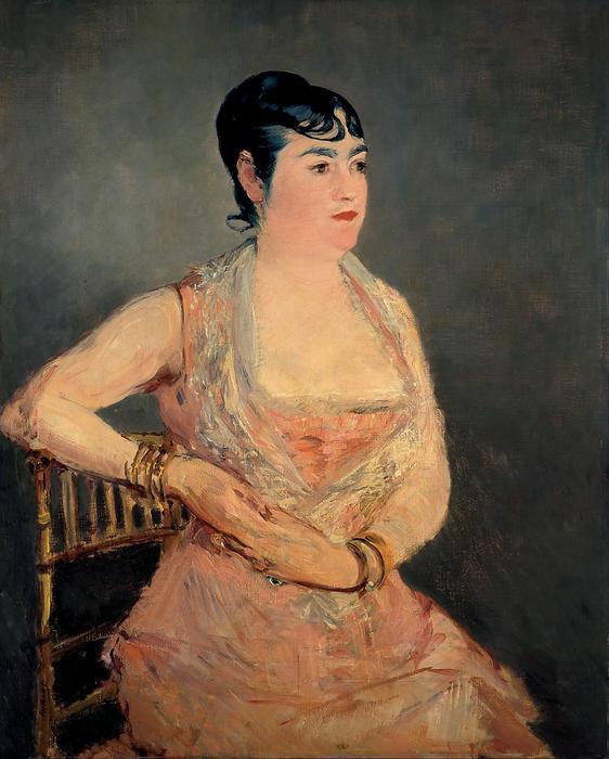 Hölgy rózsaszín ruhában, Edouard Manet