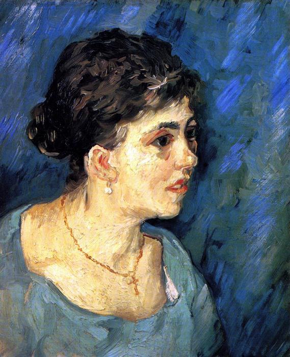 Nő kékben, portré, Vincent Van Gogh