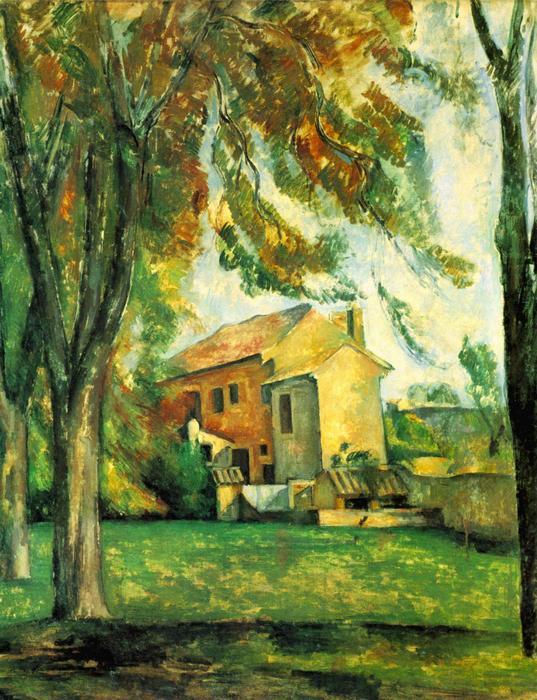 Tavacska a Jas de Bouffanban, télen, Paul Cézanne